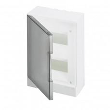 ABB Basic E Бокс в нишу 16М серая прозрачная дверь (c клеммами), 16 мод. IP40