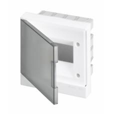 ABB Basic E Бокс в нишу 12М серая прозрачная дверь (c клеммами), 12 мод. IP40