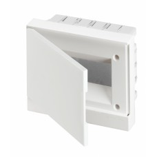 ABB Basic E Бокс в нишу 12М белая непрозрачная дверь (c клеммами), 12 мод. IP40