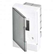 ABB Basic E Бокс в нишу 2М серая прозрачная дверь (без клемм), 2 мод. IP40