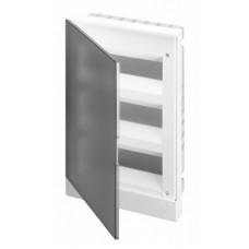 ABB Basic E Бокс в нишу 36М серая прозрачная дверь (c клеммами), 36 мод. IP40