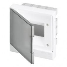 ABB Basic E Бокс в нишу 6М серая прозрачная дверь (c клеммами), 6 мод. IP40