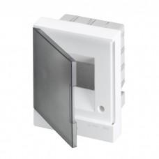 ABB Basic E Бокс в нишу 4М серая прозрачная дверь (c клеммами), 4 мод. IP40